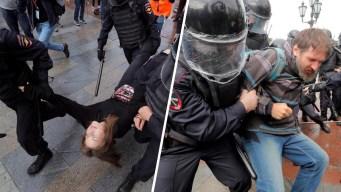 Tensión en Rusia: casi 700 detenidos durante protesta