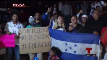 Hondureños protestan por retraso de resultado electoral