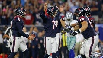 Texans ganan a los Cowboys 16-13 y animan a su afición