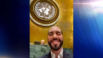 Presidente salvadoreño se toma selfi al hablar ante ONU