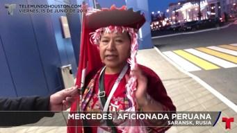 El videoblog de Ubaldo desde Rusia, la aficionada peruana
