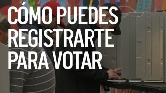 Cómo puedes registrarte para votar