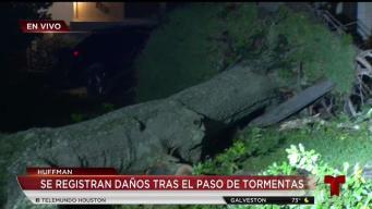 Se registran daños en Huffman debido a tormentas
