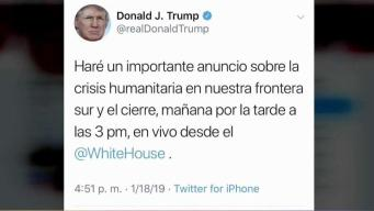 Trump hará importante anuncio sobre la frontera sur
