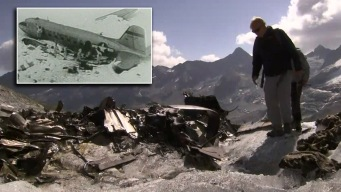 Deshielo revela restos de antiguo avión de guerra