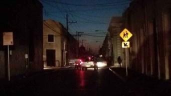 Falla suministro eléctrico y tres estados quedan a oscuras
