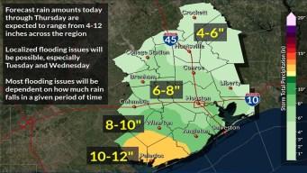 Pronóstico con lluvias hasta el jueves