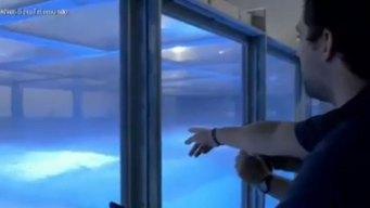 Vídeo: Estudian tormentas con simulador de huracanes