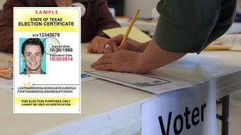 Los documentos requeridos para votar en Texas