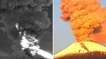 """Video: el """"Popo"""" muestra su furia con dos brutales explosiones"""