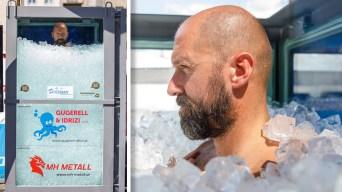 """El """"hombre de hielo"""" rompe récord mundial por osado reto"""