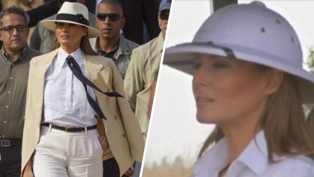 La ropa de Melania Trump causa revuelo en su primera gira sola