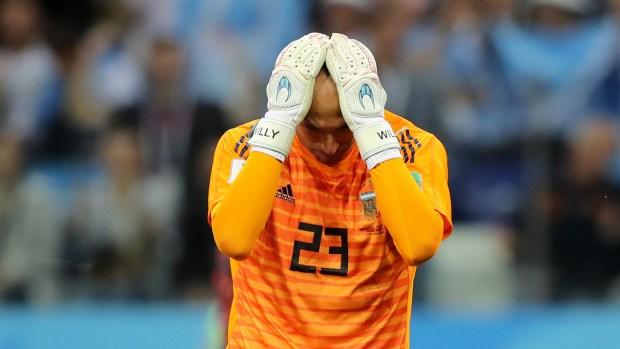 Gol de arquero: el insólito tanto de Croacia contra Argentina