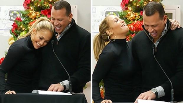 J.Lo y A-Rod muestran su amor mientras ayudan a Puerto Rico