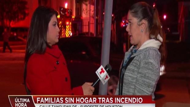 [TLMD - Houston] Incendio deja a familias sin hogar