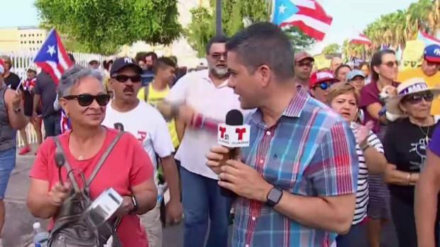 [TLMD - MIA] Marcha multitudinaria en PR pide dimisión de Rosselló