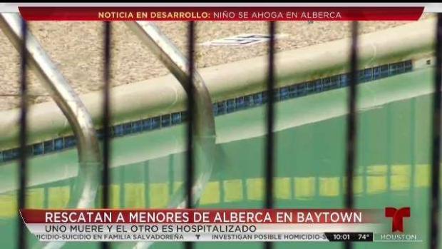 [TLMD - Houston] Niño se ahoga en piscina en Baytown