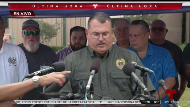 [TLMD - Houston] Rueda de prensa tras balacera en preparatoria