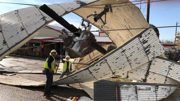 Imágenes tras el paso de tormentas en el norte de Texas