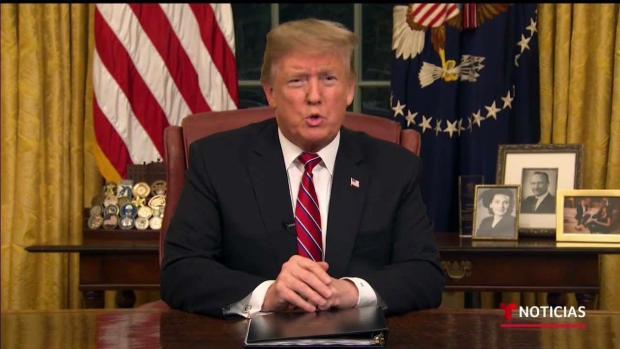 """[TLMD - LV] Trump habla a la nación sobre """"crisis"""" fronteriza"""