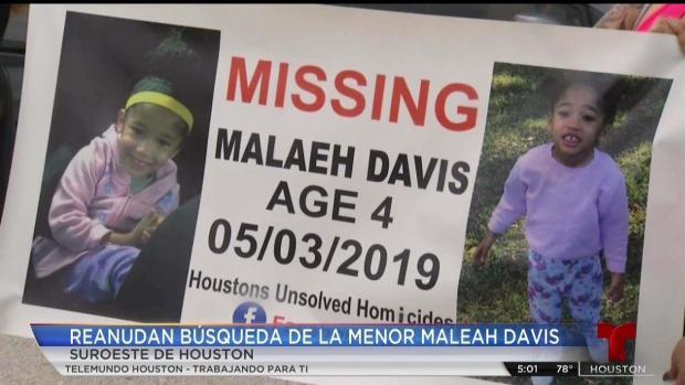 [TLMD - Houston] Voluntarios reanudan búsqueda de Maleah Davis
