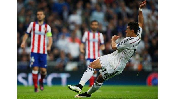 En fotos: la alegría de Chicharito al meter gol decisivo
