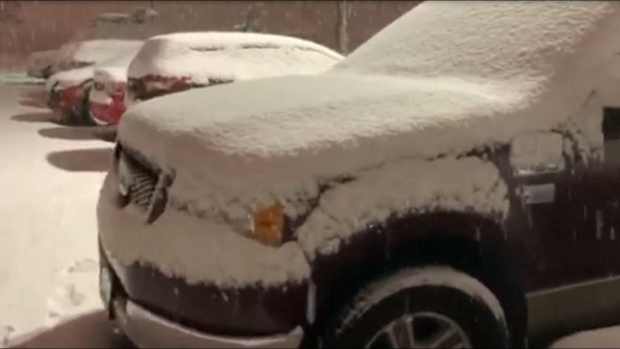 [TLMD - NATL] Carros cubiertos de nieve en Texas