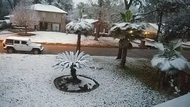 La noche que nevó en Houston