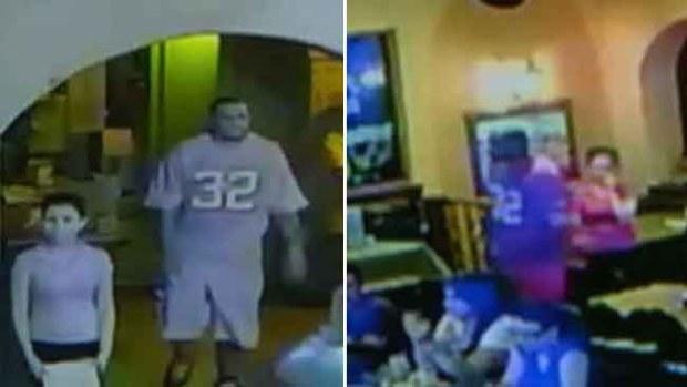 Video: Presunto asesino visita restaurante