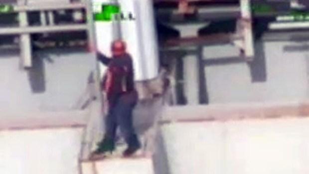 Video: Intento de suicidio en puente de NY