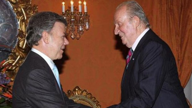 Video: Juan Carlos, en la investidura de Santos