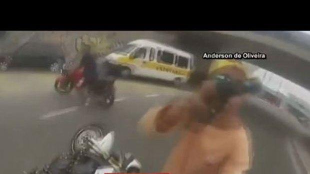 Video: Impactante video de un robo en Brasil