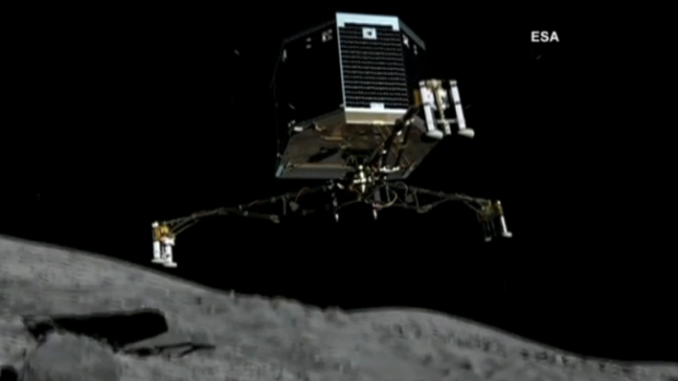 Video: Robot inicia descenso en cometa 67P