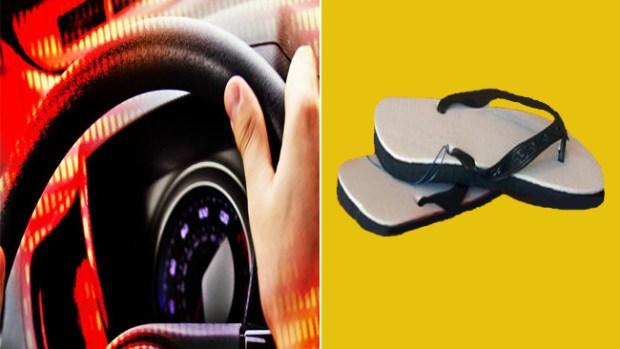 Video: Cuidado al manejar con sandalias