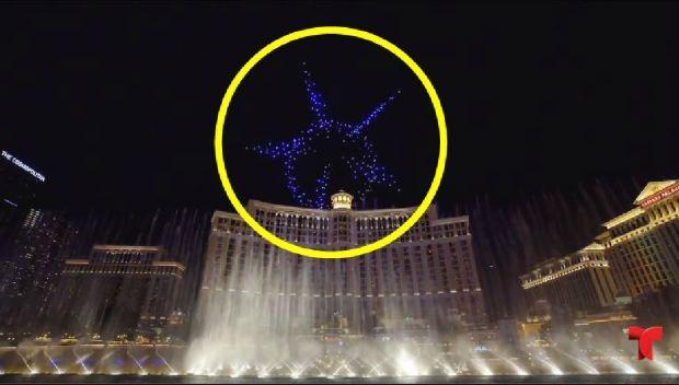 [TLMD - LV] Cientos de drones invaden el cielo sobre el Bellagio en Las Vegas