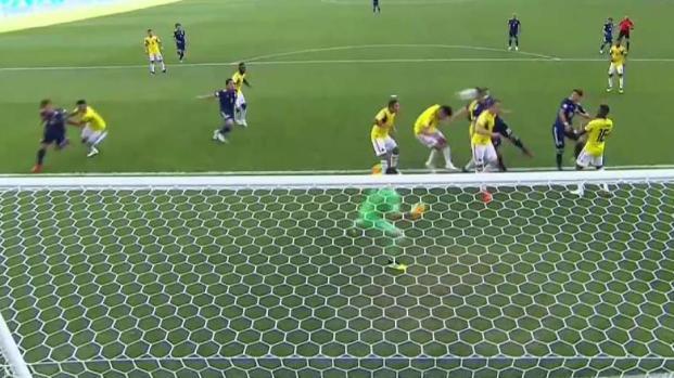 Cabezazo en el área chica pone el 2-1 para Japón