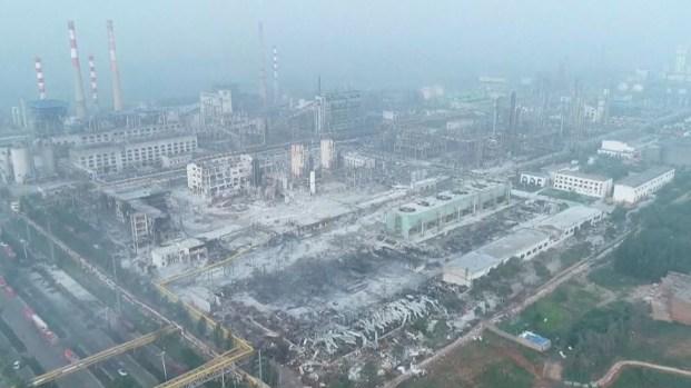 [TLMD - NATL] Desde el aire: así quedó una planta de gas de China tras explosión