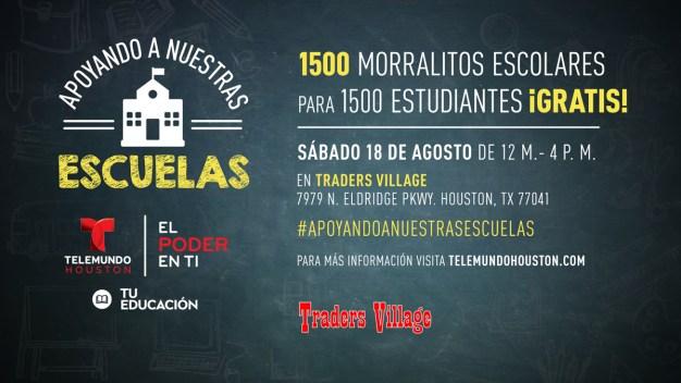 Telemundo Houston en Traders Village para Apoyando A Nuestras Escuelas