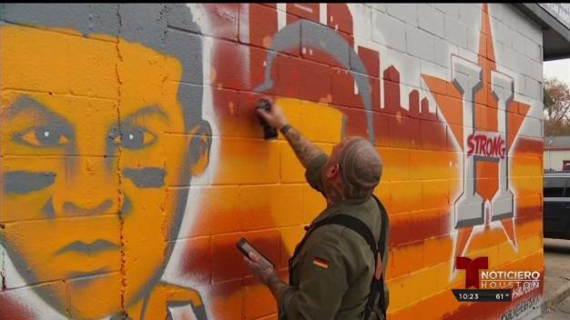 El talento artístico detrás del mural de los Astros