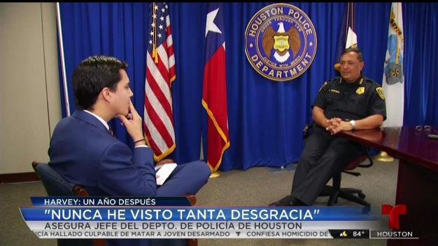 Jefe de Policía habla de su experiencia durante Harvey