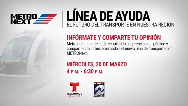 Línea de ayuda – El futuro del transporte en nuestra región