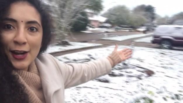 Así nevó al suroeste de Houston