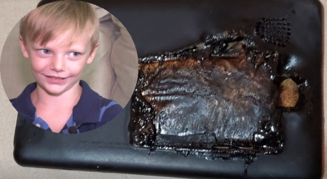 [TLMD - NATL] Aterrador: niño de 4 años narra cómo explotó su tableta mientras jugaba