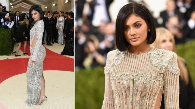 Kylie Jenner sufre heridas por culpa de vestido en Met Gala