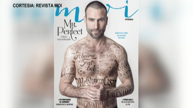 Rafael Amaya en la portada de la revista Moi