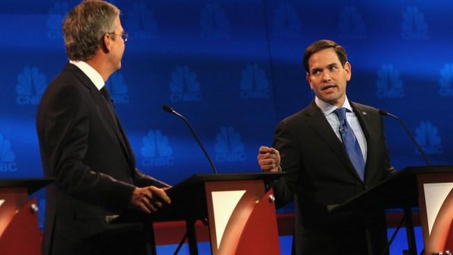 Republicanos: mientras Bush baja, Rubio sube