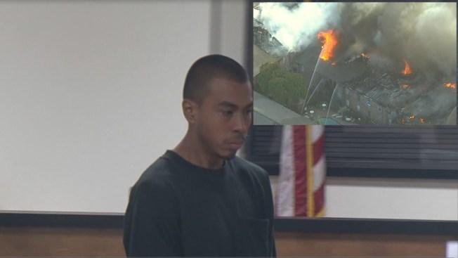 En Corte, acusado de quemar apartamentos