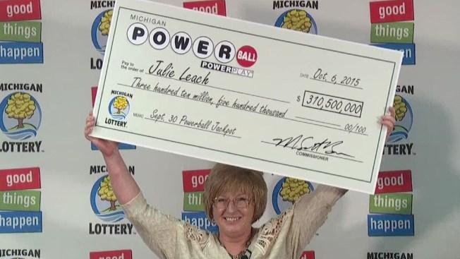 Ella se ganó los $310.5 millones del Powerball