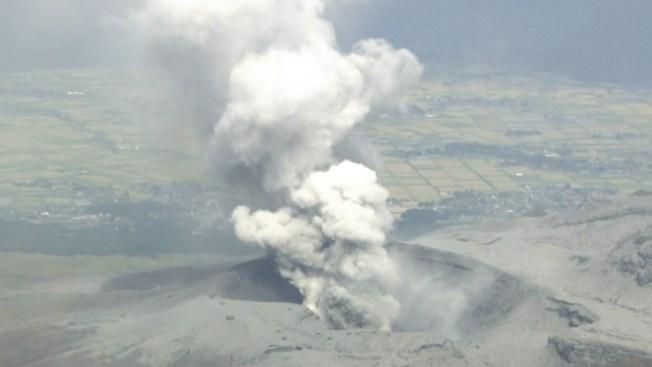 Japón: volcán Monte Aso se reactiva