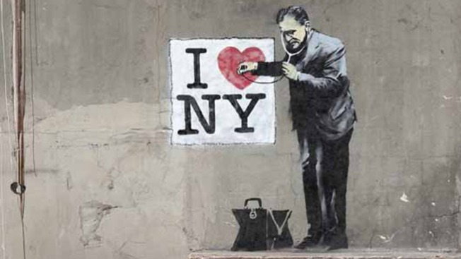 El misterioso Banksy llegó a NY